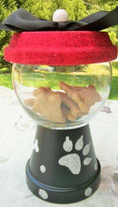 Red Black Glitter Pet Treat Faux Gumball Jar by ElegantlyCentered on Etsy