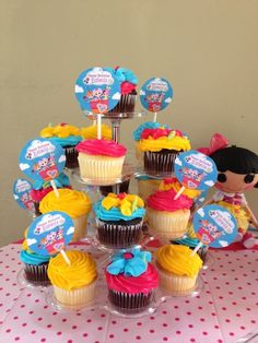Cupcakes at a Lalaloopsy Party #lalaloopsy #partycupcakes