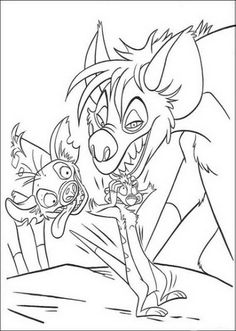 Lion King Hyenas Coloring pages Pinterest Hyena and Coloring