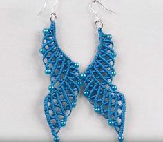 Blue Lagoon Macrame Earrings   AllFreeJewelryMaking.com