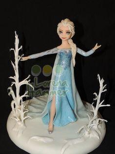 Elsa , Frozen , adorno porcelana fria Lorena Hammer