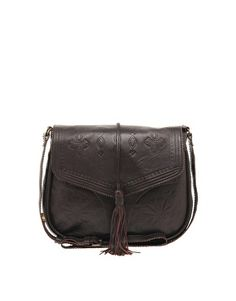 Oasis Tara Vintage Inspired Tooled Satchel