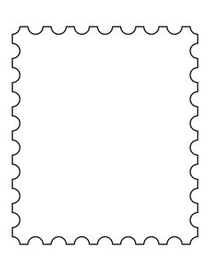 Postage stamp pattern. Use the printable outline for crafts, creating stencils, scrapbooking, and more. Free PDF template to download and print at http://patternuniverse.com/download/postage-stamp-pattern/