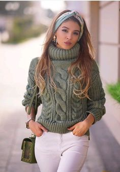 Casual Fall Outfits, Winter Fashion Outfits, Fall Winter Outfits, Stylish Outfits, Autumn Fashion, Knit Fashion, Look Fashion, Retro Fashion, Winter Sweaters