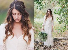 hair color & style, love the head band too, simple yet elegant