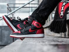 Nike Air Jordan 1 Bred (by ginogold) Air Jordan Sneakers, Nike Air Jordans, Shoes Jordans, I Love My Shoes, Dream Shoes, Nike Fashion, Sport Fashion, Men's Fashion, Jordan 1