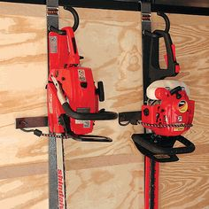 Hedge Trimmer/ Chainsaw Rack on sale. Buy trailer parts and enclosed trailer racks by Rack'em . Enclosed Trailer Racks part number Kayak Storage Rack, Metal Storage Racks, Garage Tool Storage, Garage Tools, Shed Storage, Storage Ideas, Garage Workshop Organization, Workshop Storage, Work Trailer