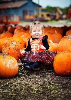 McKinnley's one year photo shoot at the pumpkin patch?