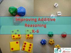 The Elementary Math Maniac: Using dice to promote fluency with additive reasoning