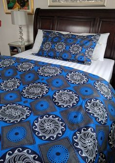 Shop for African Print (Ankara) double-sided Duvet Cover Set. Set includes a duvet cover and 2 Shams.