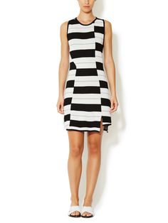 Staggered Stripe Sheath Dress by Thakoon Addition at Gilt