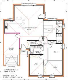Plan maison plain pied gratuit 4 chambres 2 plan maison for Chambre assurance dommages