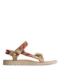 Teva Original Universal Rope Sandals - Beige/Orange - Shoes - ARKET NL
