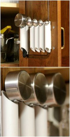 25 Life-Changing PVC Pipe Organizing and Storage Projects - Page 2 of 2 - DIY & CraftsThis is an creative PVC pipe storage ideas for you.I found myself frozen in front of the PVC pipe section in the hardware store the other day because I couldn't s Pvc Pipe Storage, Craft Room Storage, Craft Organization, Bathroom Organization, Storage Spaces, Storage Ideas, Craft Rooms, Shelving Ideas, Bathroom Ideas