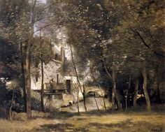 Moulin à Saint-Nicolas-lès-Arras, huile de Jean Baptiste Camille Corot