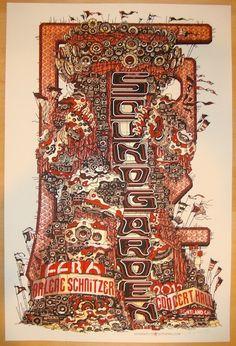 Soundgarden - silkscreen concert poster (click image for more detail) Artist: Guy Burwell Venue: Arlene Schnitzer Concert Hall Location: Portland, OR Concert Date: 2/6/2013 Edition: 250; signed and nu