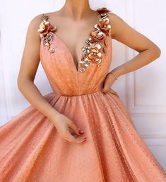 Buy Charming Orange Flowers Long Prom Dresses V-neck Tulle Cheap Evening Dresses online.Shop short long ombre prom, homecoming, bridesmaid evening dresses at Couture Candy Cocktail party dresses, formal ball gowns in ombre colors. Cheap Evening Dresses, A Line Prom Dresses, Tulle Prom Dress, Ball Dresses, Evening Gowns, Ball Gowns, Formal Dresses, 1950s Dresses, Prom Gowns
