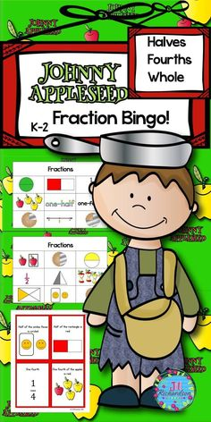 Johnny Appleseed Fraction Bingo