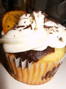 Marbled Lemon and Chocolate Cupcakes with Candied Lemons