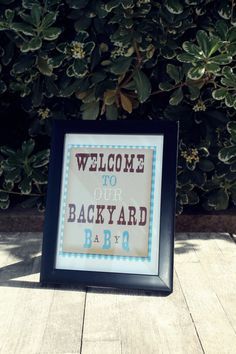 BabyQ Blue Collection printable Welcome Sign by SweetWillowShop, $5.00