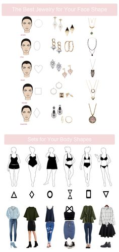 Fits tips-the best jewelry for your face shape. Also set for your body shapes now!