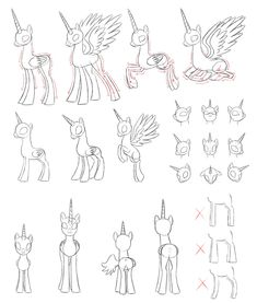 _mlp_draw_alicorn_by_pennygu-d5wdc6n.jpg 1,280×1,506 pixels