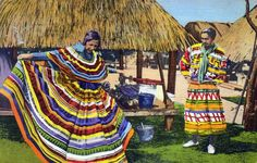 A Seminole bride shows off traditional clothing. | Florida Memory