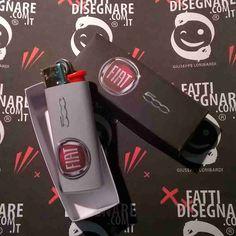 Accendino #BIC #Personalizzato con #Logo #Fiat #Fiat500 #ebay #GiuseppeLombardi #FattiDisegnare #Italy