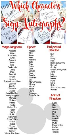Which Disney Characters Sign Autographs? Books: monogramsbyamanda.etsy.com  Website: journeyswiththejohnsons.com