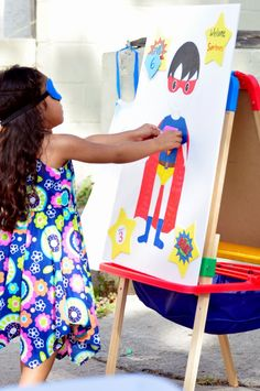 Pin the Diamond on the Superhero (Fun spin on Pin the Tail on the Donkey!)