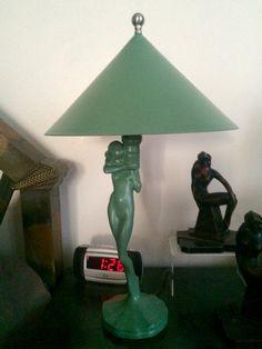 Art Deco Frankart nude lamp