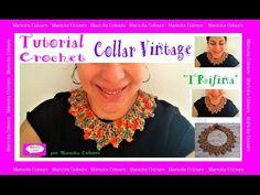 """Collar Vintage a Crochet ♥ Ganchillo """"Trifina"""" Tutorial por Maricita Colours - YouTube"""