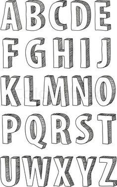 Vector of 'doodle, font, alphabet' (Cool Fonts) Doodle Fonts, Doodle Lettering, Creative Lettering, Lettering Styles, Block Lettering, Brush Lettering, Chalk Lettering, Hand Lettering Alphabet, Typography Letters