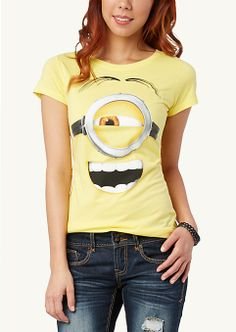 Minion Tickled Yellow Tee | Graphic Tees | rue21