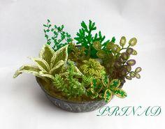 Садик в плошке | biser.info - всё о бисере и бисерном творчестве