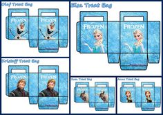 Frozen: Free Printable Paper Bags in Light Blue. - Is it for PARTIES? Is it FREE? Is it CUTE? Has QUALITY? It´s HERE! Oh My Fiesta!