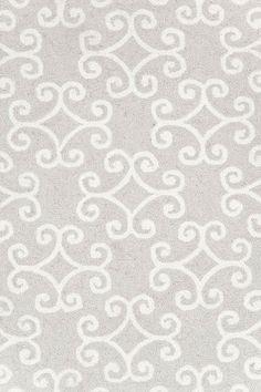 Love this neutral rug for the living room perhaps. #DashAndAlbert+Scroll+Platinum+Wool+Micro+Hooked+Rug
