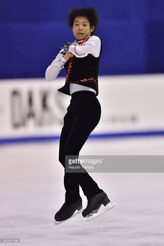 Naoki Oda of Japan competes in the Men free skating during the day two of the 2015 Japan Figure Skating Championships at the Makomanai Ice Arena on December 26, 2015 in Sapporo, Japan.