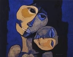 Madre y niño en azul by Oswaldo Guayasamin