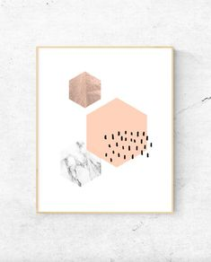 Free printable high resolution geometric hexagon wall art
