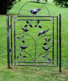 Garden gate. Jon Riedeman Fine Art Sculpture
