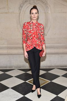 Ana Girardot attends the Christian Dior Haute Couture Spring Summer 2017 show as part of Paris Fashion Week on January 23 2017 in Paris France