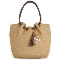Michael Michael Kors Handbag, Medium Ring Straw Tote - Polyvore