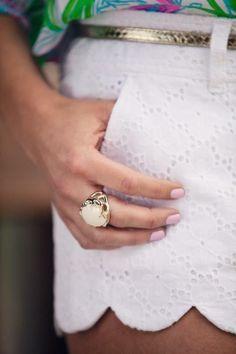 Lilly Pulitzer Buttercup Scallop Hem Short worn by @Edit by Lauren