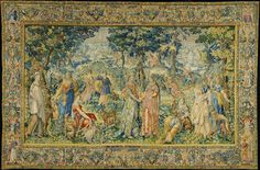 Tapestry with the story of Cephalus and Procris, from the Diana series by François Spierincx after Karel van Mander, ca. 1593-1610 (PD-art/old), Rijksmuseum Amsterdam, in about 1611-1615 Sigismund III Vasa purchased a series of 6 tapestries in the Spierincx's workshop with the Story of Diana