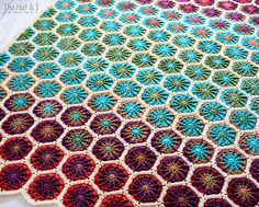 Ravelry: The Dreamer pattern by Marken of The Hat & I Crochet Afghans, Granny Square Crochet Pattern, Crochet Squares, Crochet Blankets, Granny Squares, Baby Blankets, Hexagon Crochet, The Purple, Magenta