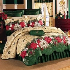 Dress Up Your Room With Christmas Bedding, Christmas Holiday Bedding Christmas Bedding, Christmas Interiors, Christmas Themes, Christmas Holidays, Room Photo, Beautiful Bedrooms, Dream Bedroom, Bed Spreads, Decoration