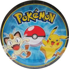 Pokemon 'Pikachu and Friends' Small Paper Plates (8ct)
