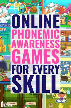 Free online phonemic awareness games provide tons of repetition and practice for new readers after you are done teaching Teaching Phonics, Teaching First Grade, First Grade Reading, Phonics Activities, Phonics Books, Have Fun Teaching, Baby Activities, Summer Activities, Teaching Ideas