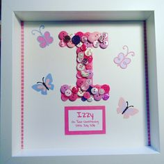 Another personalised gift delivered. A lovely bespoke present for a special little lady on her christening 😍 Get in touch to create your own, prices from Create Yourself, Create Your Own, Gifts Delivered, Christening, Presents, Frame, Decor, Gifts, Picture Frame